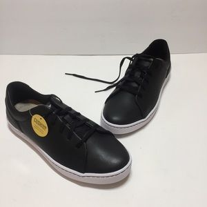 Clarks Collection Black Leather Sneakers Size 8.5M